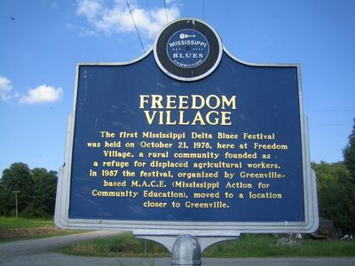 freedom road greenville ms historical marker
